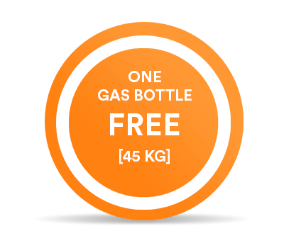 1 gas bottle free